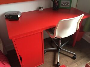 IKEA red desk - excellent condition