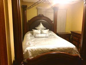 Elegant 4 Piece Queen Bedroom Set - With Mattress London Ontario image 2