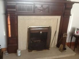 Wooden large fire surround