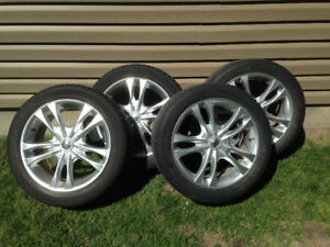 Sacchi 17 inch rims and tires. 5 bolt off Honda and can fit GM