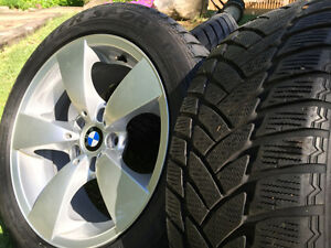 "Mint condition BMW wheels 17"" and tires"