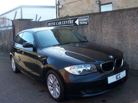 09 09 BMW 118D 2.0 TURBO DIESEL 3DR SPORTS HATCH £30 TAX BLACK ALLOYS F.S.H A/C