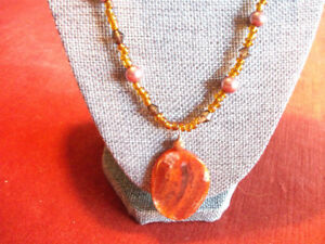 Necklace with Agate focal bead