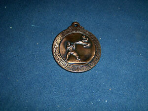 JUDO/KARATE MARTIAL ARTS MEDALLION-BRASS COLOR-COLLECTIBLE!