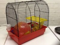 Hamster cage with hamster ball and water feeder