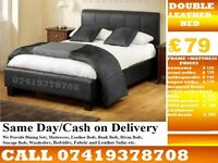 Brand New Double Leather Base memory fooam Bedding