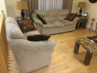 Beige Sofa & Loveseat (Mint Condition)