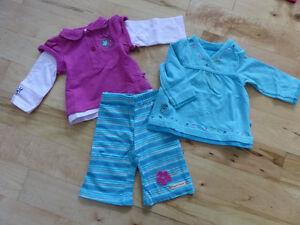 Jolie lot de vêtements fille automne hiver 0-3 mois