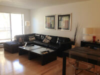 FULLY FURNISHED 41/2 (2 BEDROOMS) DOWNTOWN, PARKING,LOCKER