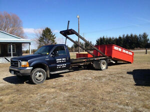2000 Ford F-550 ROLL OFF BIN TRUCK, COMES WITH 3 BINS!!