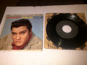 ELVIS PRESLEY LOST RECORDS PICTURE EP RCA 45RPM 1957 LOVING YOU