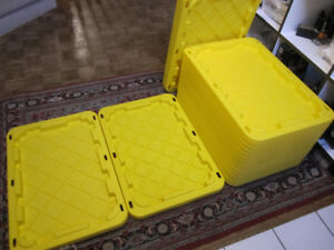 """Boot Trays - Yellow Plastic 19 1/2"""" x 28 1/2"""" x 1 1/8"""", 2 for $5"""
