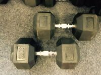 22.5kg new hex dumbbells