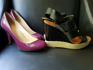 Kate spade purple pumps and coach wedge sandals