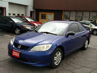 2004 Honda Civic 5 Speed 205,000km Safety/E-tested! Kitchener / Waterloo Kitchener Area Preview