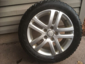 Killer Wheelset + Tires 205/55 R16 Winterforce Firestone