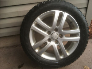 Killer Wheelset + Tires 205/55 R16 Winterforce Firestone  OEM