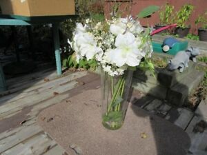 ARTIFICIAL FLOWERS AND VASE - DRASTIC REDUCTIONS!!!