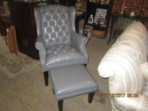 New Elegant Wing Chair and Ottoman