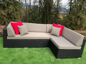 """NEW """"CHAISE L"""" SHAPED PATIO SECTIONAL"""