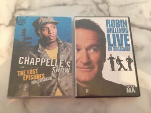 Robin Williams & Dave Chappelle Comedy DVDs