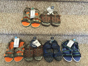 New! Osh kosh and carters toddler/kids size 9 and 10 sandals
