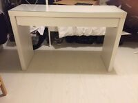 White malm Ikea dressing table/desk/console table