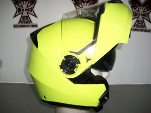TORC Modular Helmet, HI-VIS Yellow - With Retractable Lens