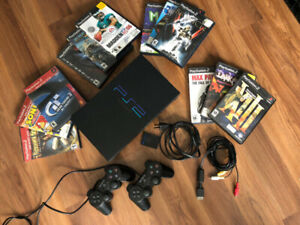 PS2 - playstation2 (SCPH-39001) with 13 games