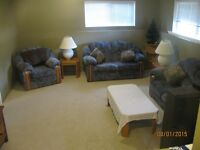 Furnished room and living room for rent