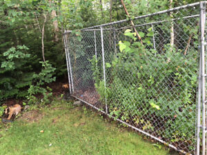 TWO 12 FT x 6 FT HIGH SECTIONS OF EASTERN FENCE GALV. FENCE SECT