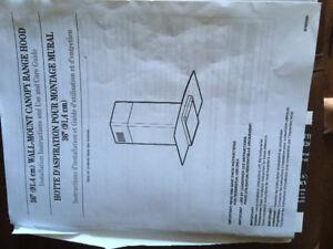 Glass/SS Canopy Range Hood Ikea/Whirlpool