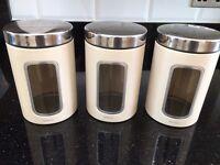 Set of barbantia tea, sugar, coffee canisters