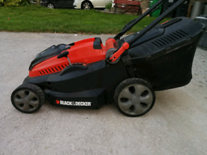 "Cordless black and decker 16"" electric lawn mower"