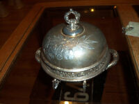 EARLY 1900'S QUADROPLE PLATED DISH
