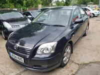 2004 54 Reg TOYOTA AVENSIS,AUTOMATIC,BLACK,CREAM LEATHER, SAT&NAV