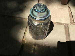 Imperial Atterbury Scroll Iridescent canister/apothecary jar