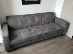 Lightly used condo size sofa bed from Leons