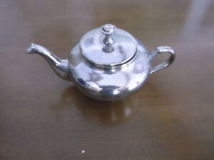 100 yr old stainless steel English tea pot