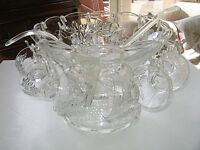 Glass Punch Bowl Set
