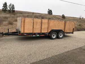 7.5x20' heavy duty equiptment trailer