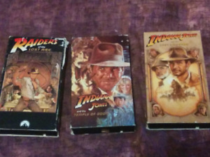 Indiana Jones Trilogy for VHS.