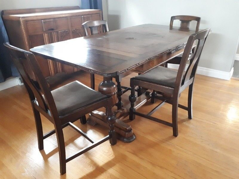 Antique Dining Room Table Chairs