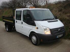 2014 63 Ford Transit 350 2.2 Euro 5 100ps Double Cab Tipper 67,000 Miles
