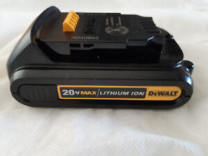 Dewalt battery 20 v max . New