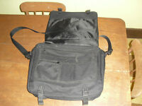 laptop messenger bag black nylon heavy duty