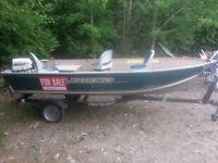 2007 alluminum motar boat