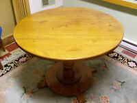 TABLE (SOLID WOOD) AND 4 CHAIRS (PART of ESTATE) circa 1985