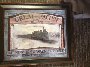 Great Pacific Railway Framed Picture-23 x 19.5