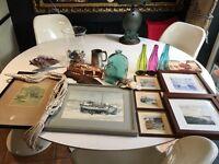 Vintage nautical seaside murano fish coastal boating glass pub shop cafe props prints